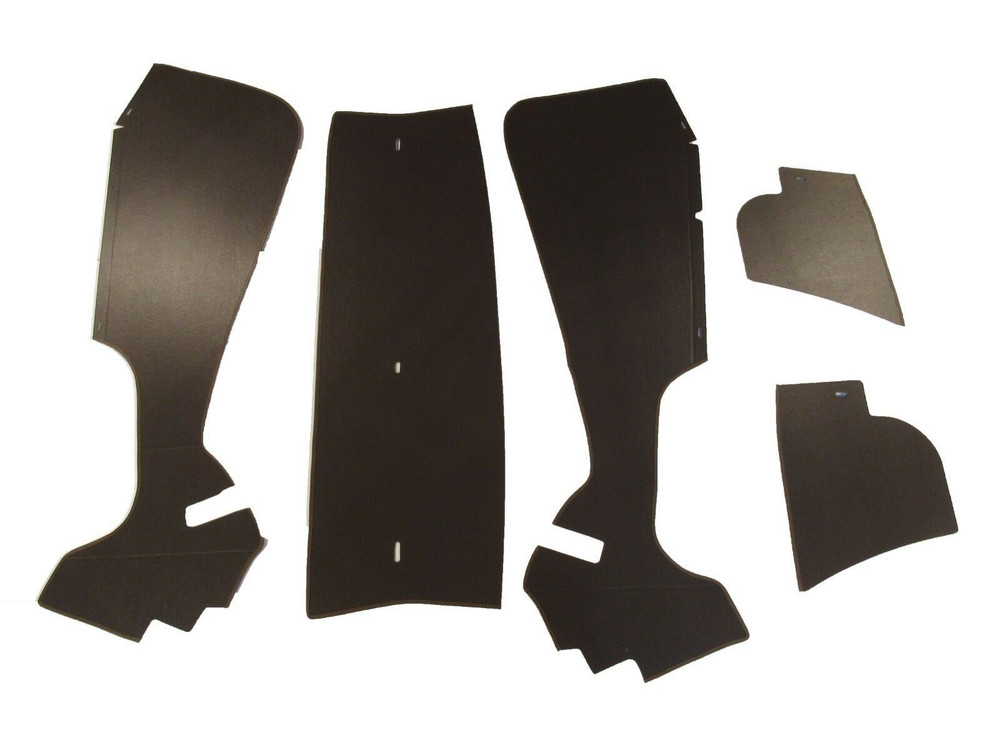 1956 CADILLAC COUPE DEVILLE TRUNK SIDE PANEL KIT  BROWN, 5 PIECES