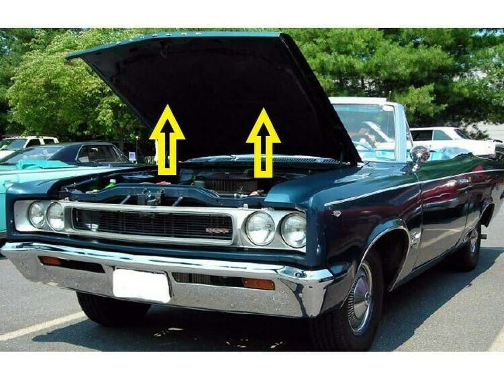 1967 AMC REBEL HOOD INSULATION PAD with CLIPS