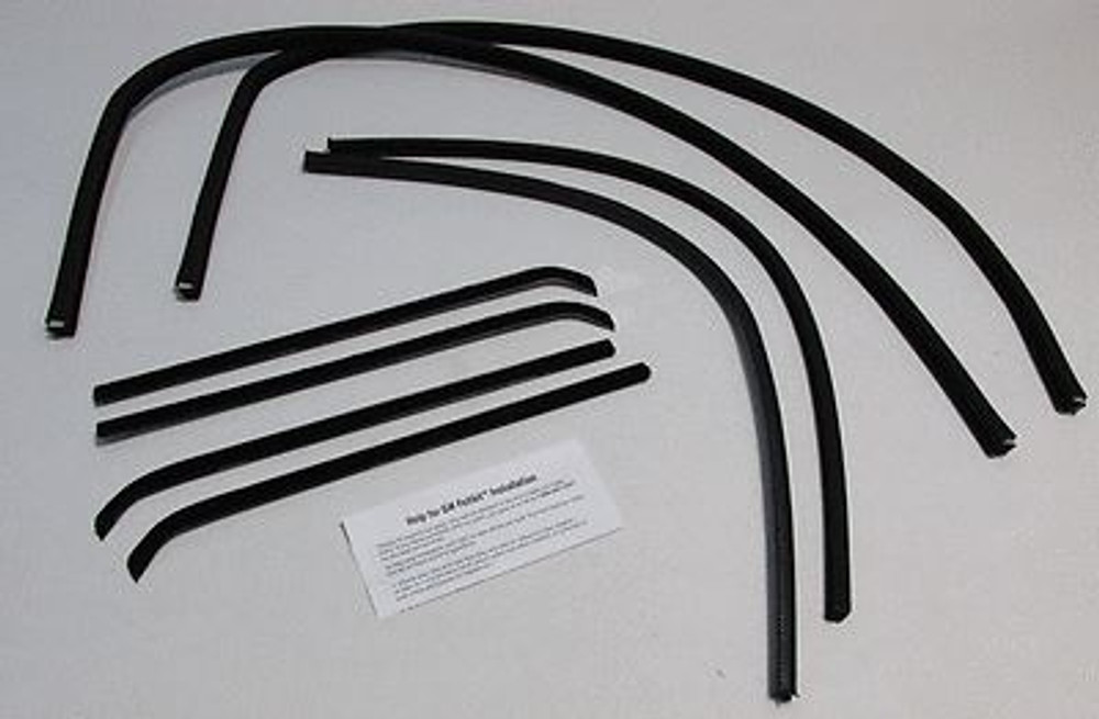 1960-1963 CHEVY TRUCK & C-10 W/O METAL FRAMES WINDOW WEATHERSTRIP SUPERKIT 8 PCS