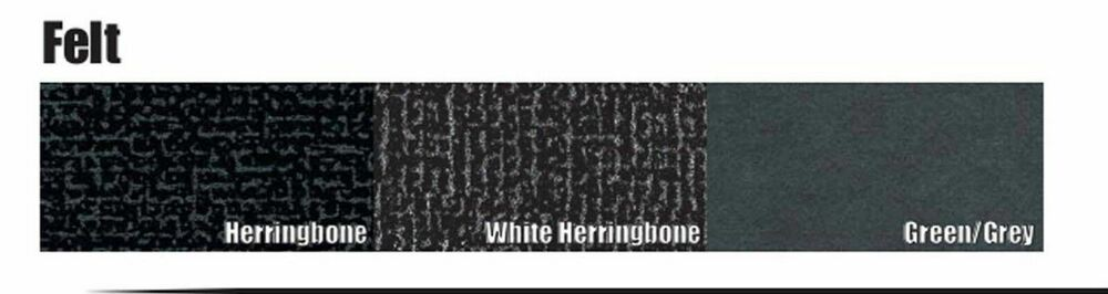 1963-1964 AMC AMBASSADOR WHITE FELT HERRINGBONE TRUNK MAT