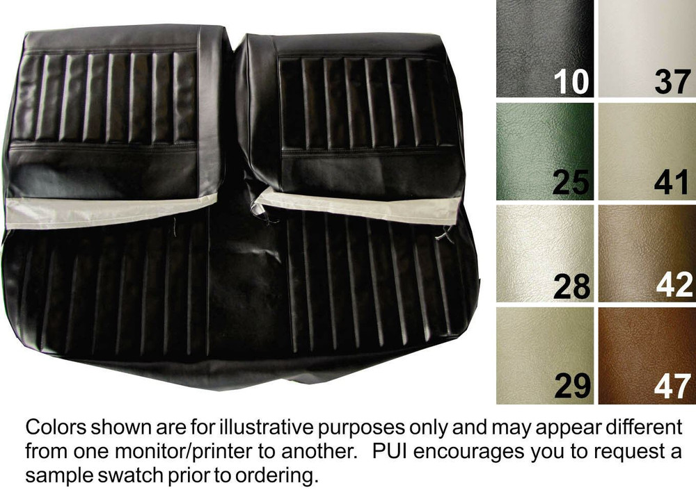 1971-1972 BUICK SKYLARK /GS-350 CONVERTIBLE DELUXE REAR SEAT COVER  8 COLORS