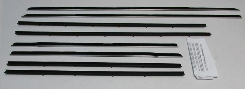 1968 MERCURY MONTEREY CONVERTIBLE BELTLINE WINDOW WEATHERSTRIP KIT 8 PIECES