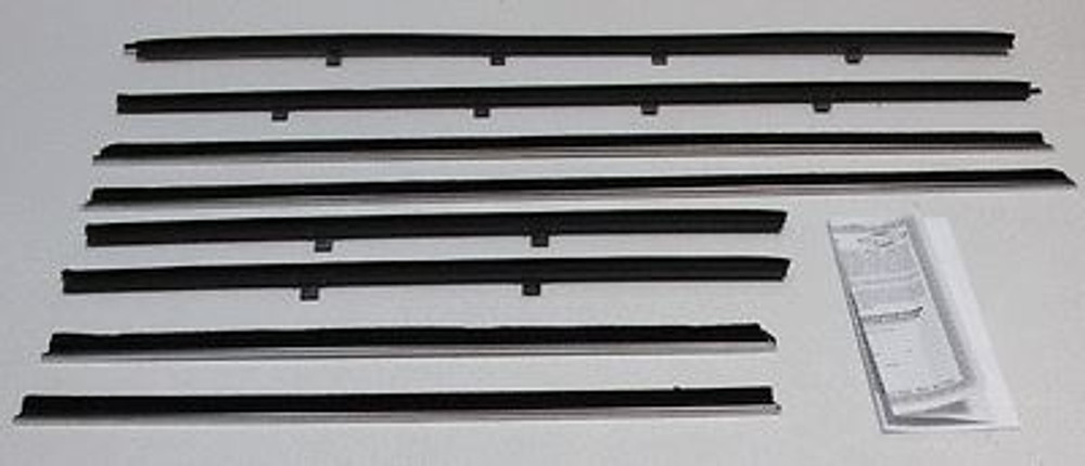 1961-62 CHEVY IMPALA  2 DOOR SEDAN WINDOW BELTLINE WEATHERSTRIPPING KIT (8 PCS).