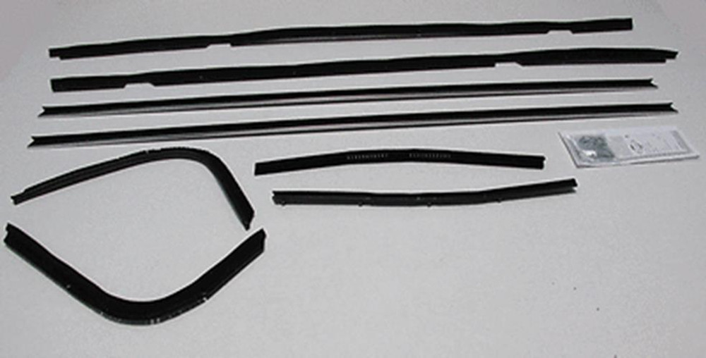 1974-1976 THUNDERBIRD 2DR HARDTOP WINDOW WEATHERSTRIP KIT 8 PIECES