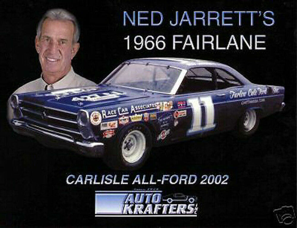 NED JARRETT DRIVER HERO CARD CAREER STATISTICS NASCAR