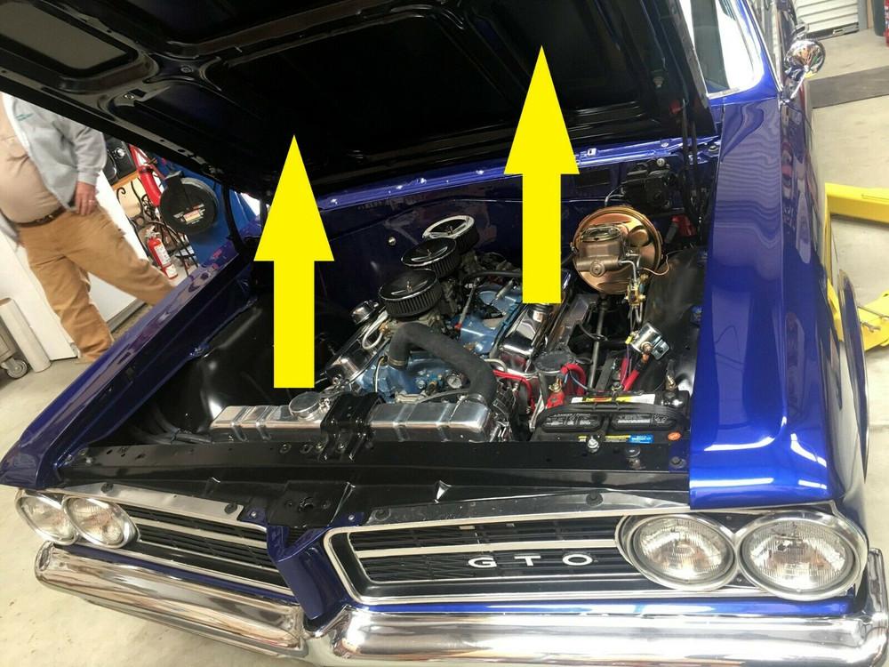 "1964 PONTIAC GTO 1"" HOOD INSULATION PAD"