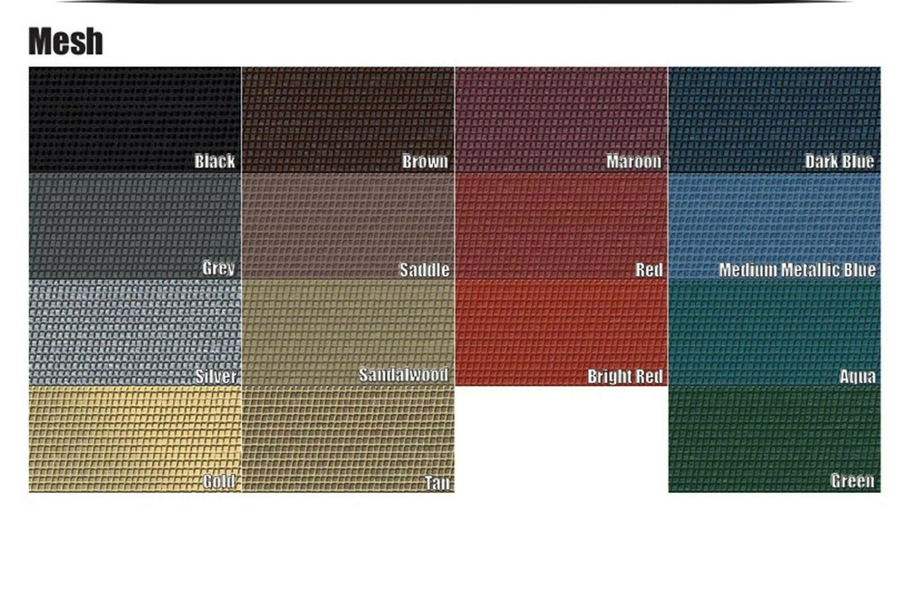 1957-1958 CADILLAC COUPE DEVILLE MESH PACKAGE TRAY, 15GM COLORS