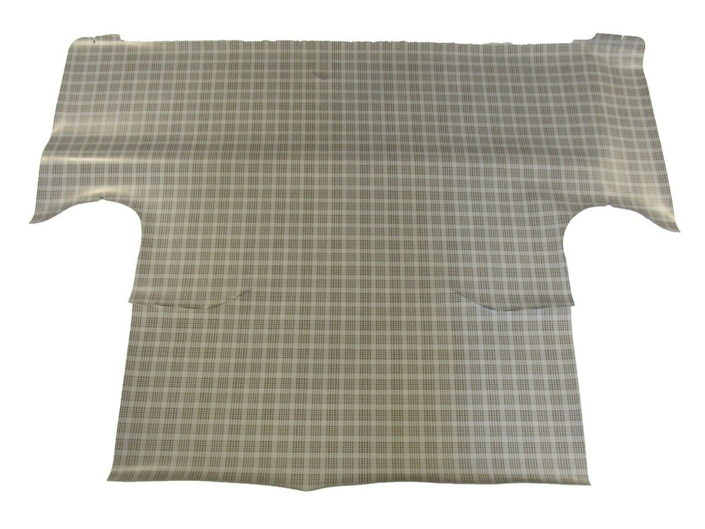 1964-65 FORD FALCON COUPE &CONVERTIBLE RUBBER TRUNK MAT, SMALL FORD PLAID