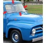 1953-1955 FORD F-SERIES PICKUP WINDSHIELD WEATHERSTRIP  BLACK  1 PIECE