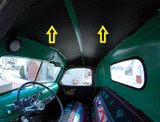 1942-1946  GM PICK UP TRUCK HEADLINER 4 DIFFERENT COLORS, 2 PCS.