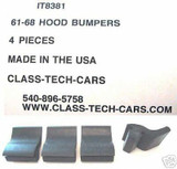 1961-1968 International Harvester pickup Travelall hood bumpers 4 pieces
