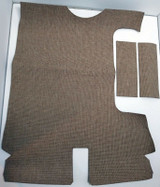 1956 Cadillac series 62 - 2 door hardtop brown tweed trunk mat kit, 9 pieces