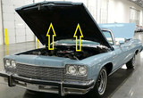 1975 BUICK LESABRE HOOD INSULATION KIT INCLUDES CLIPS
