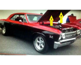 1967 CHEVELLE HOOD INSULATION KIT INCLUDES CLIPS