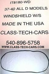1937 1938 1939 1940 International  Truck D series  windshield seal