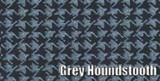 1966-67 PLYMOUTH ROADRUNNER & GTX CONVERTIBLE RUBBER TRUNK MAT, GREY HOUNDSTOOTH