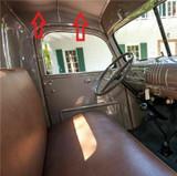 1942-1946 GM PICK UP TRUCK HEADLINER PEARL BEIGE COLOR, 2 PCS.
