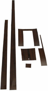 1965-1966 FORD MUSTANG CENTER CONSOLE WOODGRAIN KIT, VINYL, 6 PIECES
