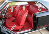 1966-67 Chevy Chevelle Coupe Inners Only window weatherstrip kit 4pc