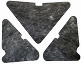1965-1968 MERCURY  MONTEREY & MONTCLAIR   HOOD INSULATION KIT 3pc
