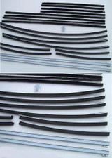 1960 FORD GALAXIE 4 DOOR,  WINDOW WEATERSTRIP SUPER KIT ,18 PCS
