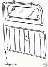 52-57 International Harvester Travelall lift gate tail gate seal  USA made