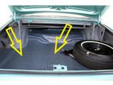 1965  Dodge Coronet Trunk Mat Rubber
