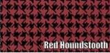 1960 BONNEVILLE SEDAN RUBBER TRUNK MAT, RED HOUNDSTOOTH, 3PC
