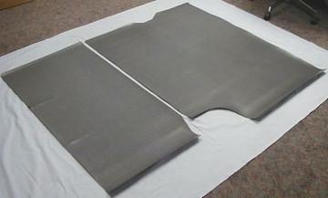 1964-1966 PONTIAC GTO AQUA HOUNDSTOOTH PRINT RUBBER TRUNK MAT KIT 2 PIECE