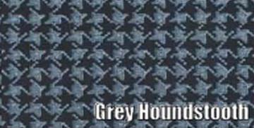 1966 DODGE MONACO 2 DOOR HARDTOP RUBBER TRUNK MAT, GRAY HOUNDSTOOTH