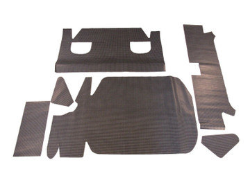 1961-1962 BUICK SPECIAL, VINYL TRUNK MAT, GREY HOUNDSTOOTH, 6PC