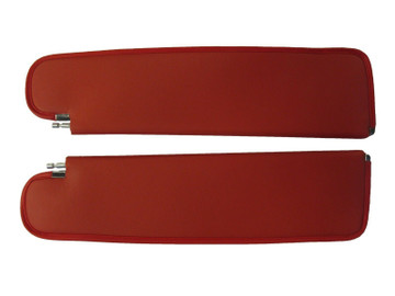 1959-1960 CHEVY IMPALA SUNVISORS, TIER PATTERN, BRIGHT RED COLOR