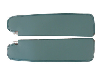 1959-1960 CHEVY IMPALA SUNVISORS, TIER PATTERN, TURQUOISE COLOR
