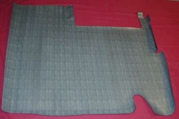 1960-1961 AMC RAMBLER, CLASSIC and AMBASSADOR  GRAY CROWSFOOT RUBBER TRUNK MAT