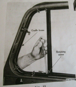 1950-53 & early 54 International Harvester pickup vent window seal, pair