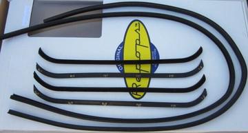 1941-1949 International pickup window weatherstrip glass channel kit both doors