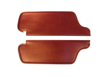 1966-1968 DODGE CHARGER SUNVISORS, COLOGNE PATTERN, 16 COLORS, PAIR