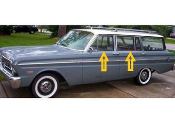 1964-1965 Ford Falcon/ Merc. Comet 4dr. Wagon window weatherstrip kit, 8pcs