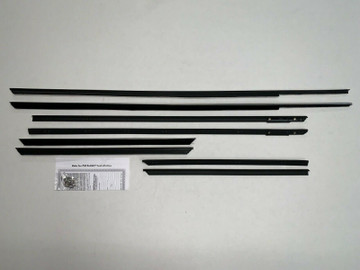 1963-1964 Cadillac Convertible window weatherstrip kit, 8 pcs.