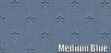 1962 PONTIAC GRAN PRIX SUN VISORS, STAR PATTERN, MEDIUM BLUE COLOR, PAIR