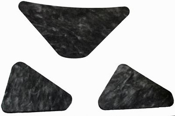 1961-1964 MERCURY FULL SIZE HOOD INSULATION PAD, INCLUDES CLIPS