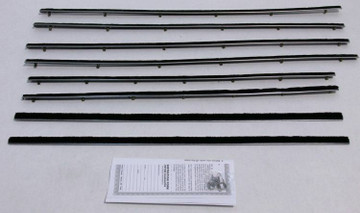 1964-65 FORD FALCON & MERCURY COMET 2 DOOR SEDAN WINDOW WEATHERSTRIP KIT 8PC