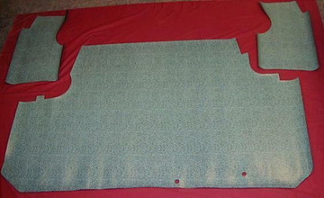 1962 PONTIAC CATALINA COUPE AQUA HERRINGBONE RUBBER TRUNK MAT KIT 3 PIECES