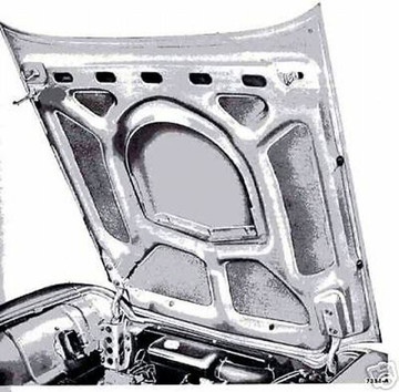 1958-1960 FORD THUNDERBIRD  HOOD INSULATION KIT 6PC INCLUDES CLIPS