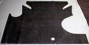 1964-1965 MERCURY COMET & CYCLONE FELT TRUNK MAT 1 PC. HERRINGBONE