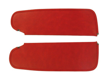 1964-1966 PLYMOUTH BARRACUDA SUN VISORS, BISON PATTERN, RED COLOR
