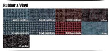 1961-1963  PONTIAC TEMPEST RED HOUNDSTOOTH RUBBER TRUNK MAT