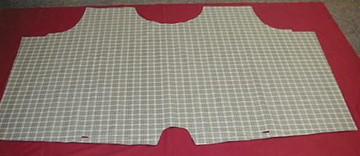 1962 FORD GALAXIE CONVERTIBLE TRUNK MAT PLAID VINYL