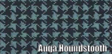 1966 -1967  CHEVY IMPALA CONVERTIBLE RUBBER TRUNK MAT,AQUA HOUNDSTOOTH