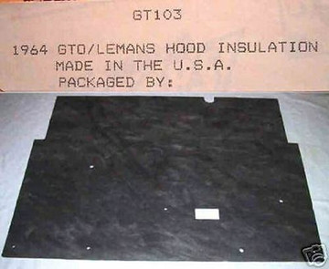 1964 PONTIAC GTO &  LEMANS HOOD INSULATION  KIT INCLUDES CLIPS